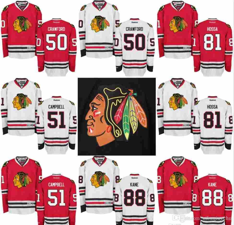 6eeab4d69 Chicago Blackhawks Jersey Men's 81 Marian Hossa 88 Patrick Kane 50 ...