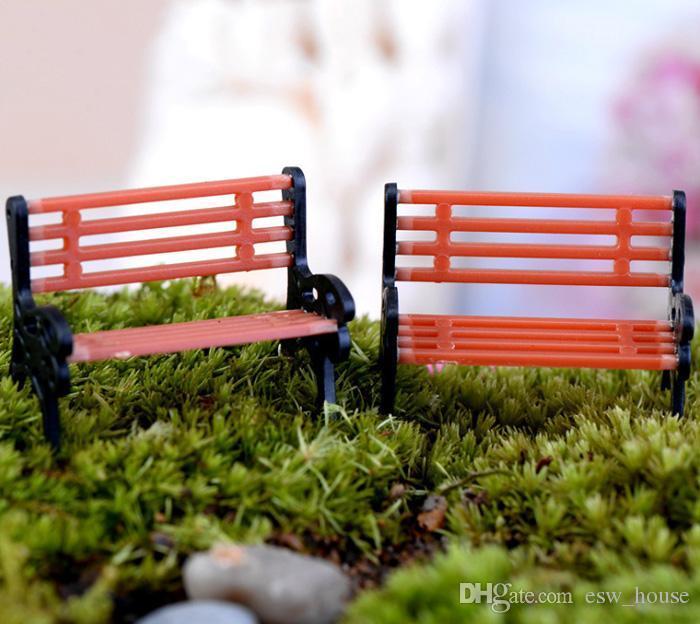 Crafts Mini moderno parco Panchine in miniatura Fairy Garden miniature accessori Giocattoli Doll House Cortile Decoration
