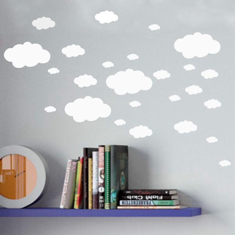 mini clouds wall sticker , vinyl cloud wall art nursery kids child