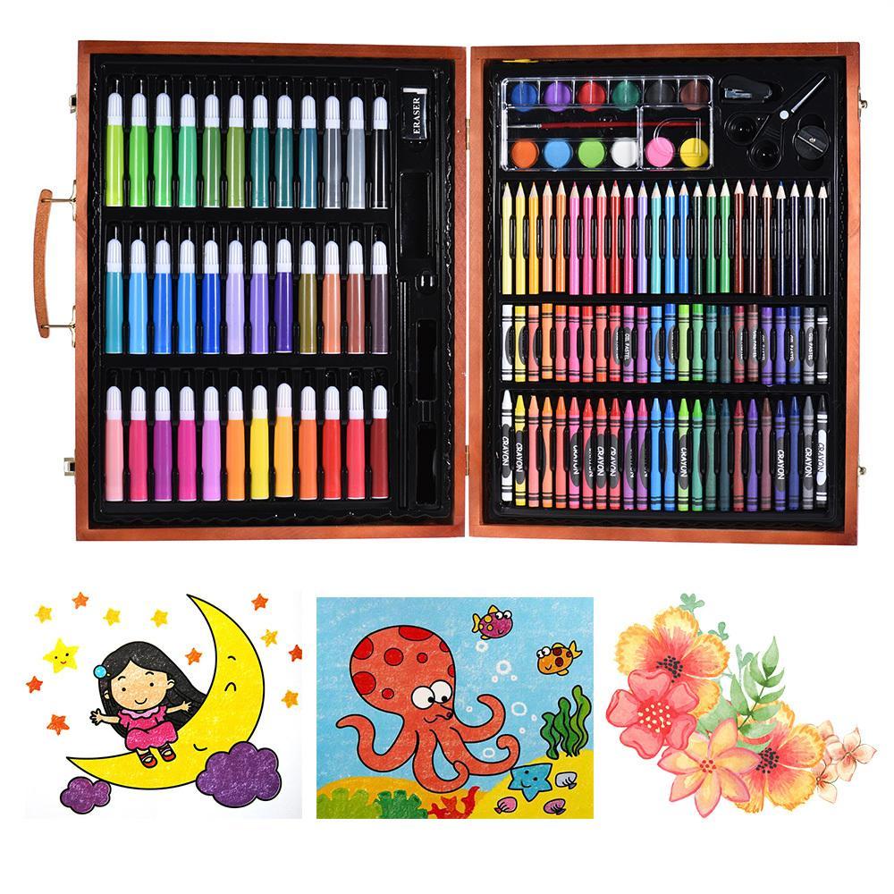4ea675d53fb8 Compre Color Lápiz Color Marcadores Lápices Lápices De Colores Pasteles Al  Óleo Acuarela Deluxe Art Set Para Niños Con Estuche De Madera A $70.36 Del  ...