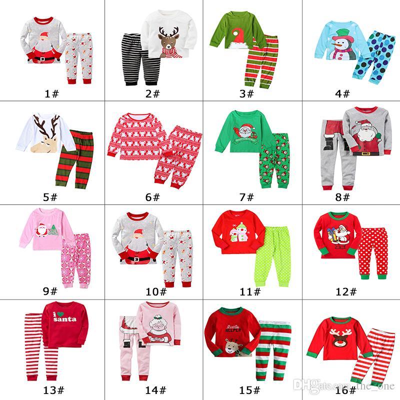 099bea2a06 2018 Xmas Kids Family Matching Christmas Deer Moose Striped Pajamas  Sleepwear Nightwear Pyjamas Bedgown Sleepcoat Nighty Choose Fre UK 2019  From The one
