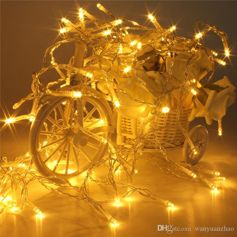 10m 80 leds battery operated led string lights for xmas garland party wedding decoration christmas flasher fairy lights on sale online with 383piece on