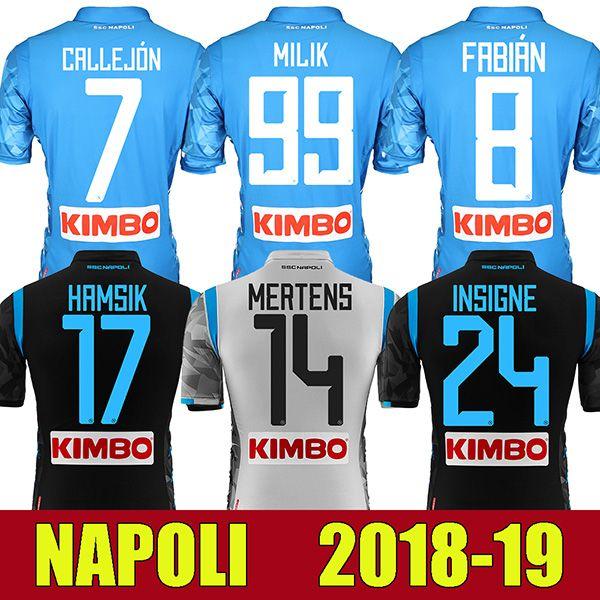 c06d6da6a 2019 18 19 Napoli Football Shirt Hamsik Insigne Mertens Milik Jorginho  Callejon Maradona Zielinski Naples 2018 2019 Soccer Jersey From Isoccer