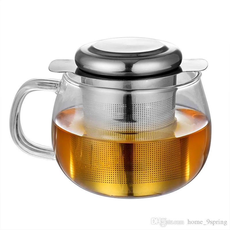 Reusable Stainless Steel Tea Infuser Basket Fine Mesh Tea Strainer Filter with Lid Loose Leaf Tea Filter for Brewing in Mugs & Teapot