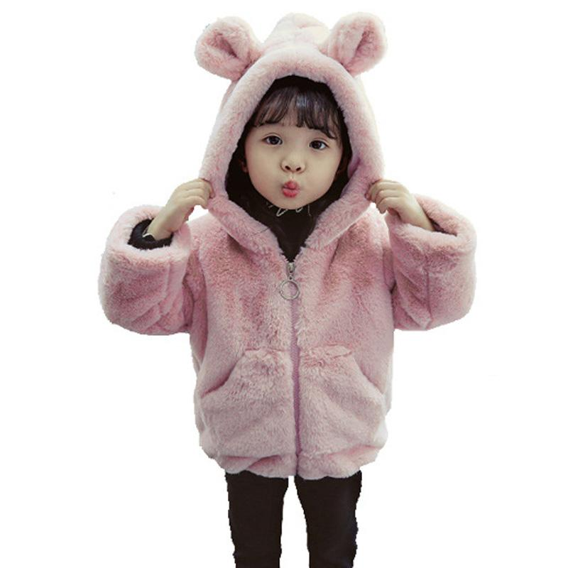 1caff0b6c Warm Winter Baby Infants Girls Ear Hooded Children Kids Velvet ...