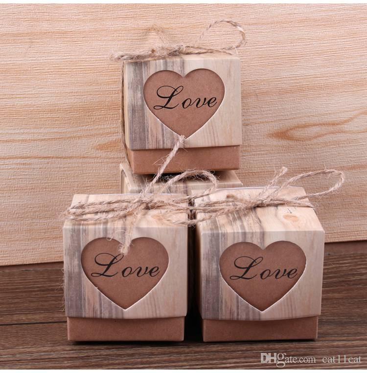 Grosshandel Herz Candy Box Vintage Hochzeitsgeschenke Fur Gaste Kraft