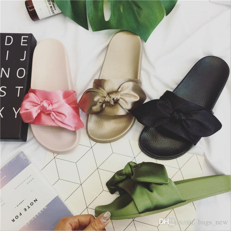 e644ea78d26e Women Slipper Fenty Rihanna Slippers Bow Bandana Slide Slippers Fenty Bow  Slides For Women Indoor Slides With Box And Dust Bags Winter Boots For Women  Boots ...