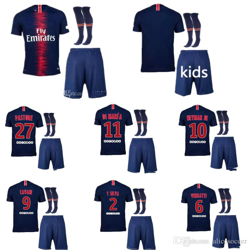 cheap for discount 5aa7c d3a31 ^_^ Wholesales PsG kids football kits custom name number neymar jr 10 top  quality pairs soccer jersey 18 19 kids mbappe 29 cavani 9