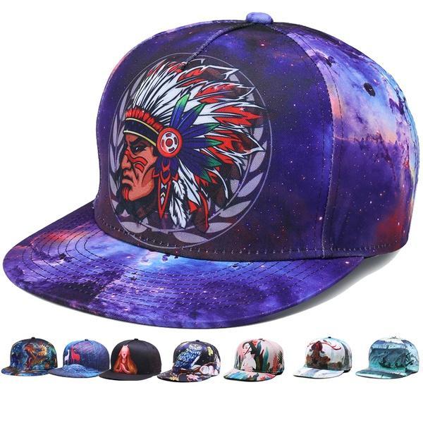 Hip Hop Baseball Cap For Men Women 3D Digital Printing Cotton Flat Brimmed  Dome Caps Adjustable Snapback Hat Festival Birthday Christmas Gif Flexfit  Hats ... ca0dff0b3986