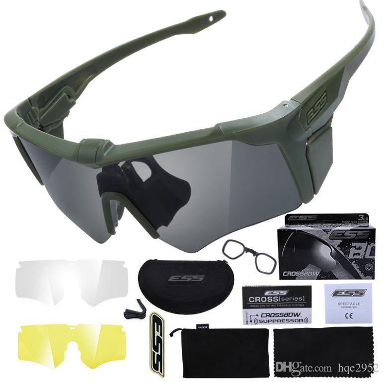 7010fa8ec1 ESS Eyewear Sport Polarized Sunglasses Crossbow AF 2nd Generation Military  Tactical Ballistic Goggles Kit With 3 Interchangeable Lens Sunglasses Hut  Reading ...