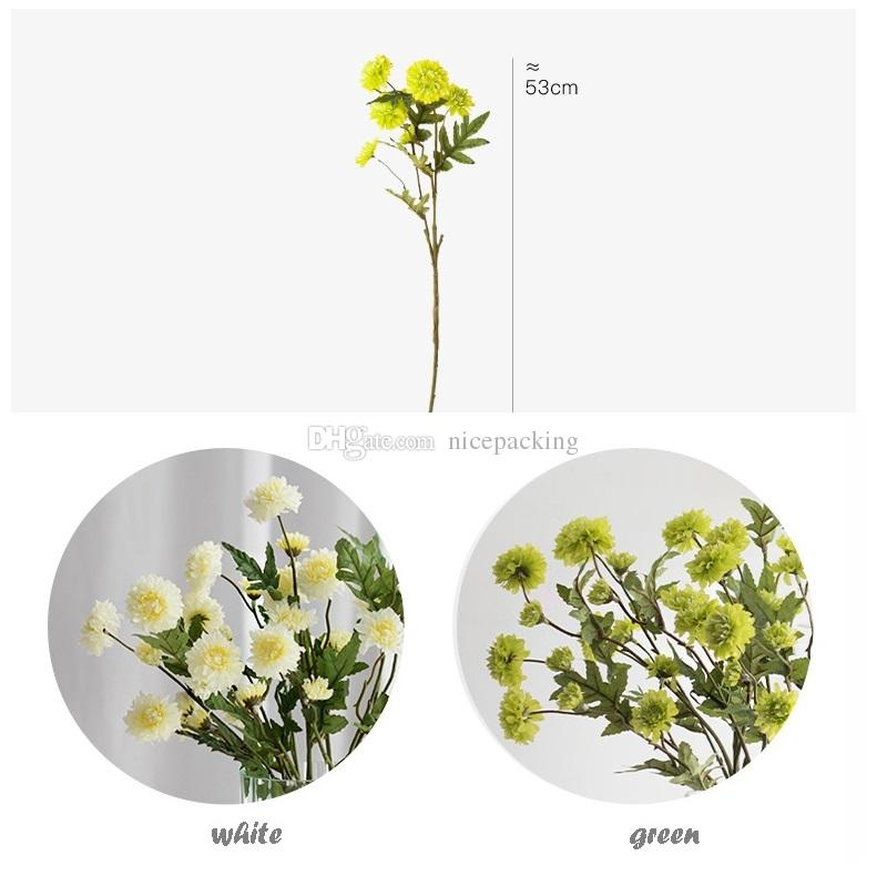 elegent artificial daisy rural style Artificial Silk flower Wedding Decorative Simation Flowers 2 colour mini order