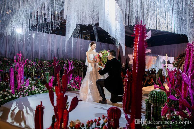 2018 AB Colore Trasparente 10 M / Roll Vetro Perle di Cristallo Tenda Soggiorno Finestra Porta Cristallo Matrimonio Fondale D882L