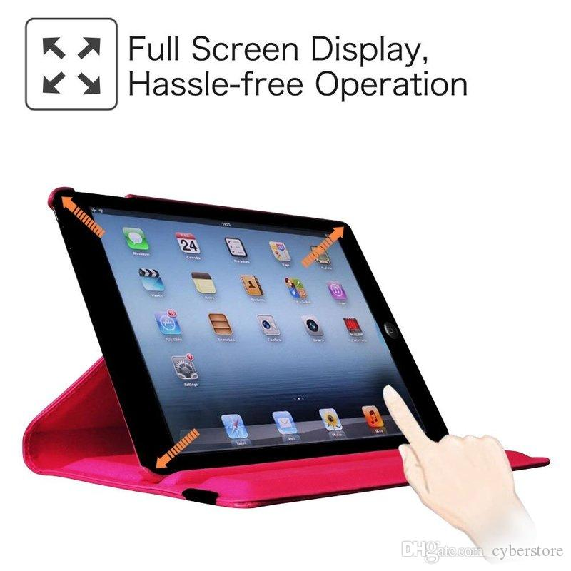 For New iPad 2018 Pro 11 9.7 10.5 360 Degree Rotating Leather Case Cover For iPad Air2 Mini 2/3/4