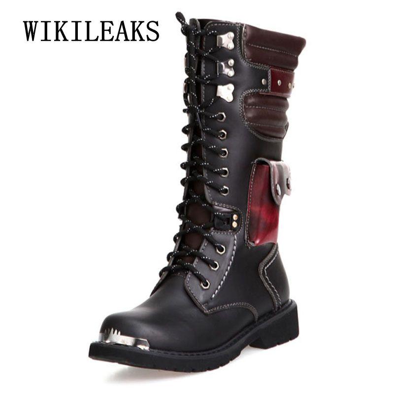 Hombre Zapatos Cuero Desierto Martin Bota Invierno Para Boots Botas Otoño Masculina Marca kZXuTwPOi