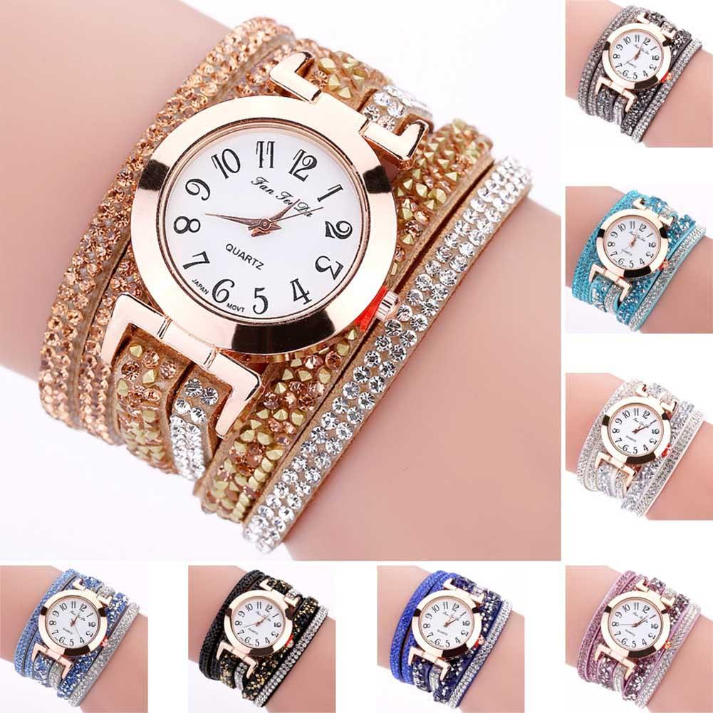 New Fashion Women Thin Multi Layers Quartz Bracelet Watch Crystal  Wristwatch Gifts High Quality LL 17 Buying Watches Online Buy A Watch  Online From ... 7b73d7f214bb
