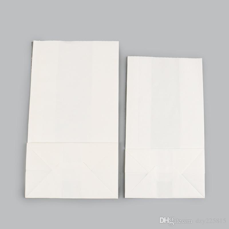 7442bbeb7 Compre Multi Tamanho Branco Sacos De Papel Kraft Sacos De Café Pequeno  Presente Do Alimento Sacos De Pão De Alimentos De Alta Qualidade Por  Atacado De ...
