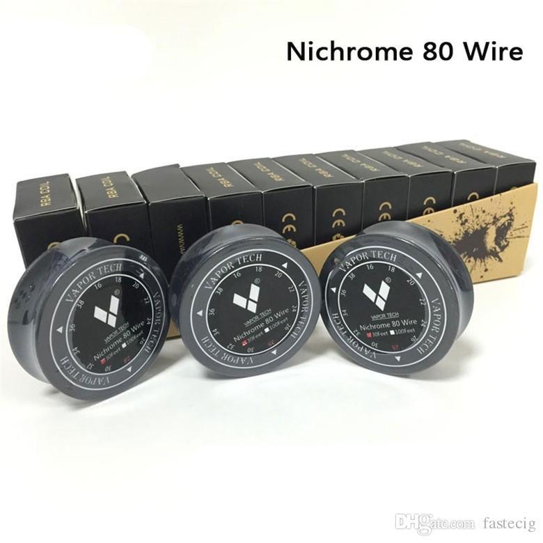 Echte Vaportech Nichrome 80 draht 100ft / 30ft 20/22/24/26/28/30/32 gauge Nichrome 80 heizwendel widerstand spule