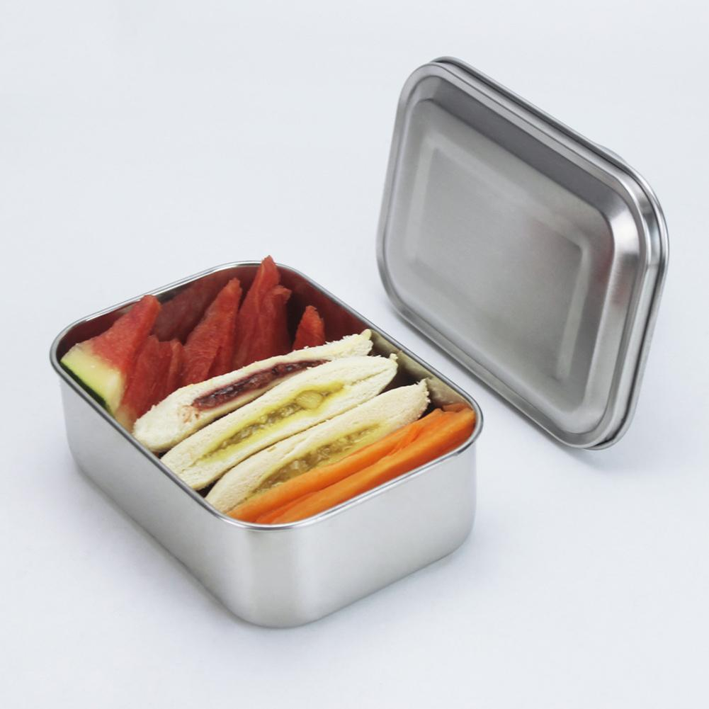 b8d8e54392 2019 Rectangle Stainless Steel Lunch Box Stainless Steel Bento Box Stainless  Steel Food Container Single Layer Food Boxes From Tanguimei2, $21.11 |  DHgate.