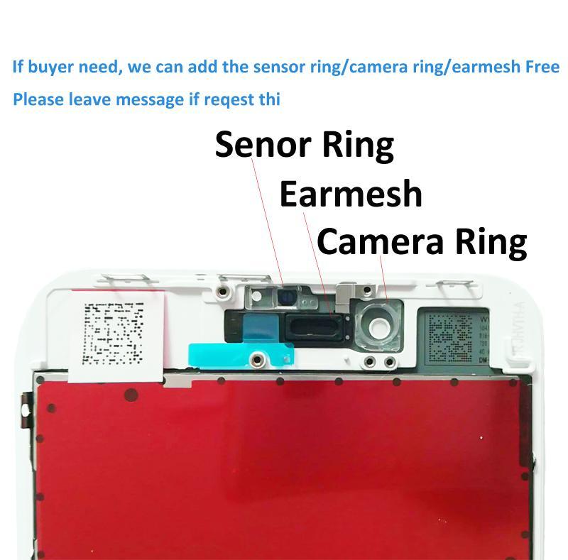 Hochwertiger Ersatz-Bildschirm für iPhone 8 plus LCD-Digitizer-Montage-Touchscreen Black White Color 100% Test Pasted OK