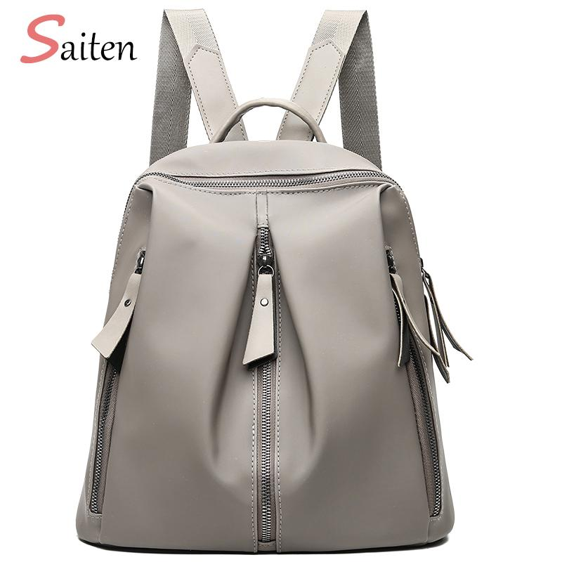 f7a63ff66cb0 2018 Latest High Quality PU Leather Women Backpack Fashion Solid School  Bags For Teenager Girls Casual Women Khaki Backpacks Rucksack Backpack Boys  ...