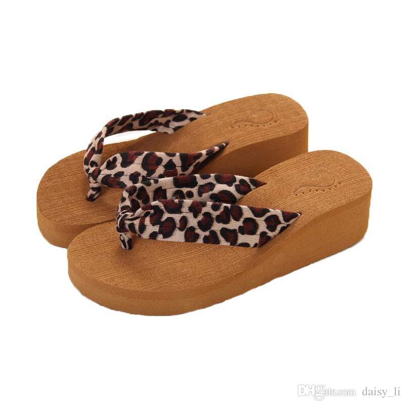 b61fb270fd206 Women S Flip Flops Slipper Brand Shoe Playa Slippers Girls Summer Leopard  Pattern Flat Heel Sandals Home Shoes  33 Summer 2018 Slippers For Women  Cheap ...