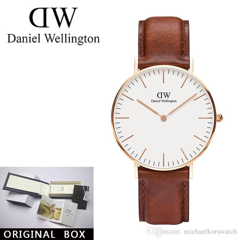 8e51c839ef2 Compre Novos Homens Relógios De Daniel Wellington 40mm Relógios Mulheres  Relógios De Luxo Da Marca Famosa Relógio De Pulso De Quartzo + Caixa  Feminino ...