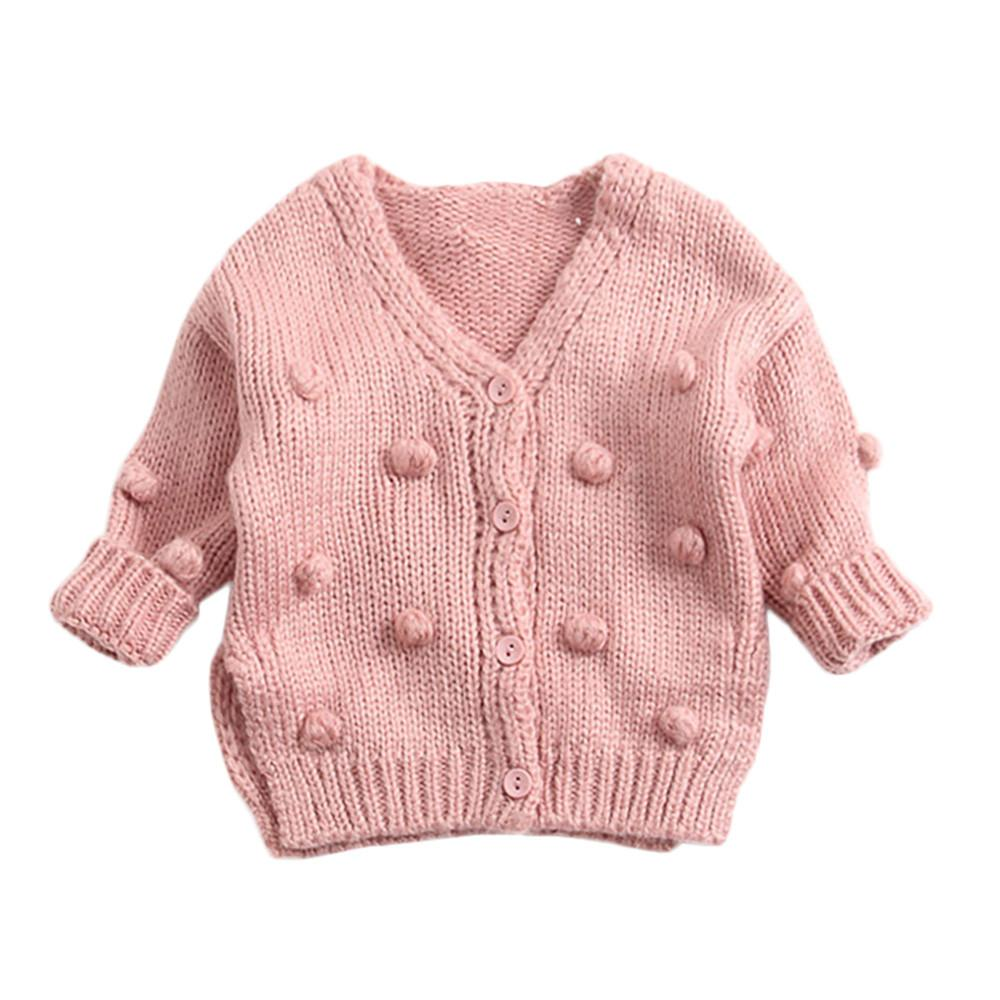 1a1b5963e Autumn Winter Baby Kids Girl Child Winter Ball In Hand Down Sweater ...