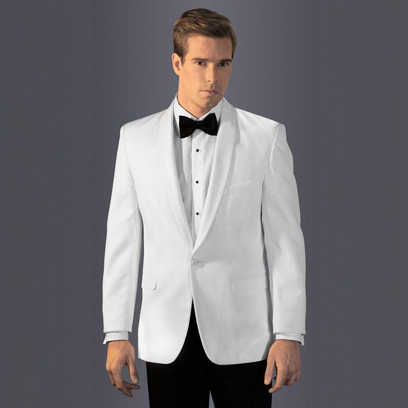 Compre 2018 Trajes De Hombre Blanco Chal Solapa Vestido De Noche Trajes De  Boda Por Encargo Novio Novio Tuxedo Blazer Prom Slim Fit Casual Mejor Hombre  2 ... 1b55abe20472