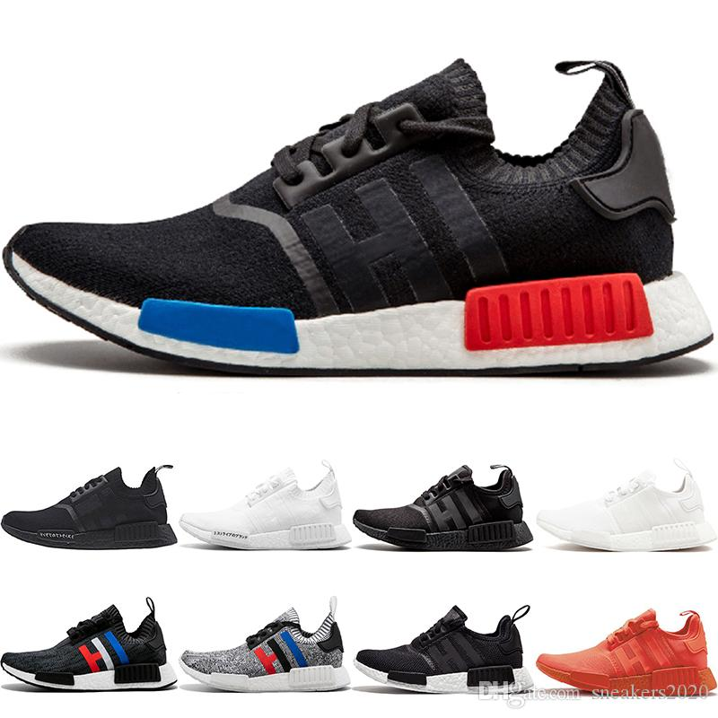 dd57afb34d4b5 2019 Cheap NMD R1 Running Shoes OG Japan Triple Black White Solar Red Core  Oreo Tri Color Men Women Designer Trainer Sport Sneaker Size 5 11 From ...