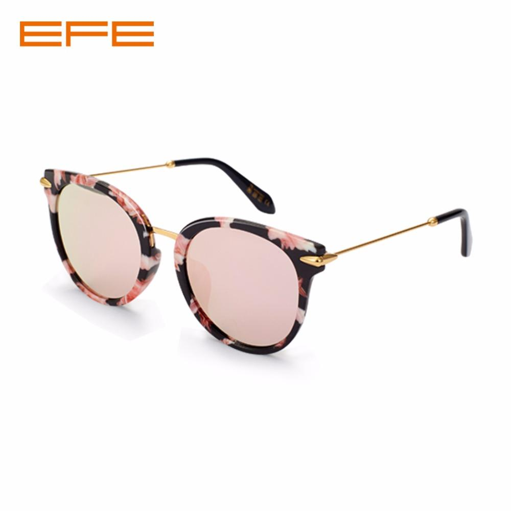880886e94 Compre EFE Moda Óculos Homens Mulheres Polarizada Do Vintage Olho De Gato  Óculos De Sol Redondo De Metal Óculos De Sol Luxuris Marca Óculos De Sol  58074 De ...
