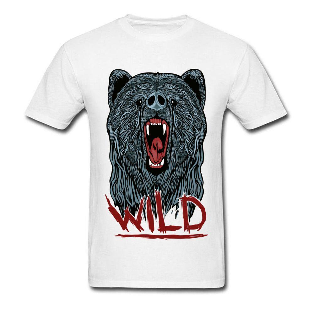 3d Wolf T Shirt 2018 Latest Design Custom Cotton Tshirt Wild Wolf