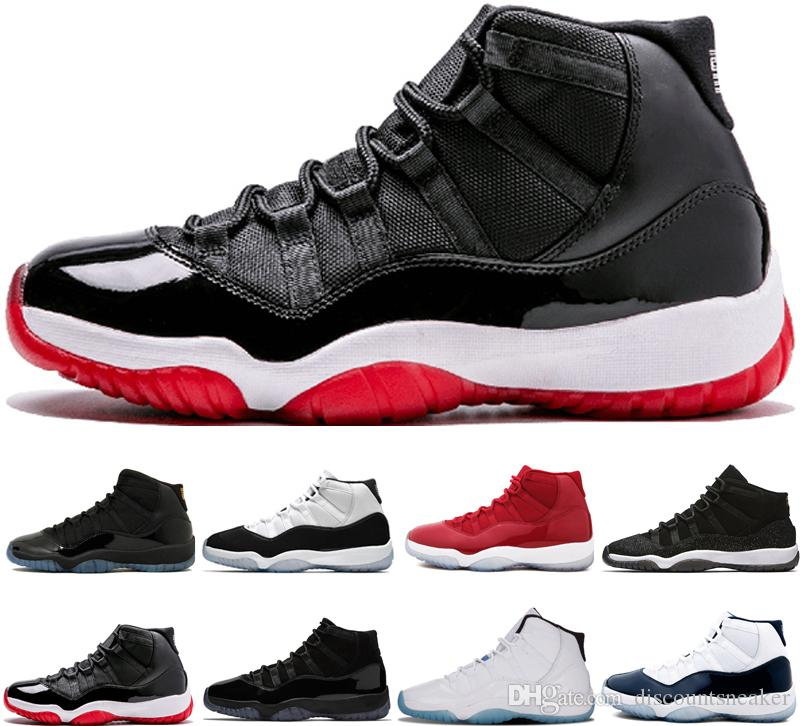 free shipping 03c3f 4c2fb 2018 11 Cap and Gown Prom Night New 11s Basketball Shoes men Space Jam Bred  Concord black PRM Heiress Win Like 96 Sports trainers Sneakers