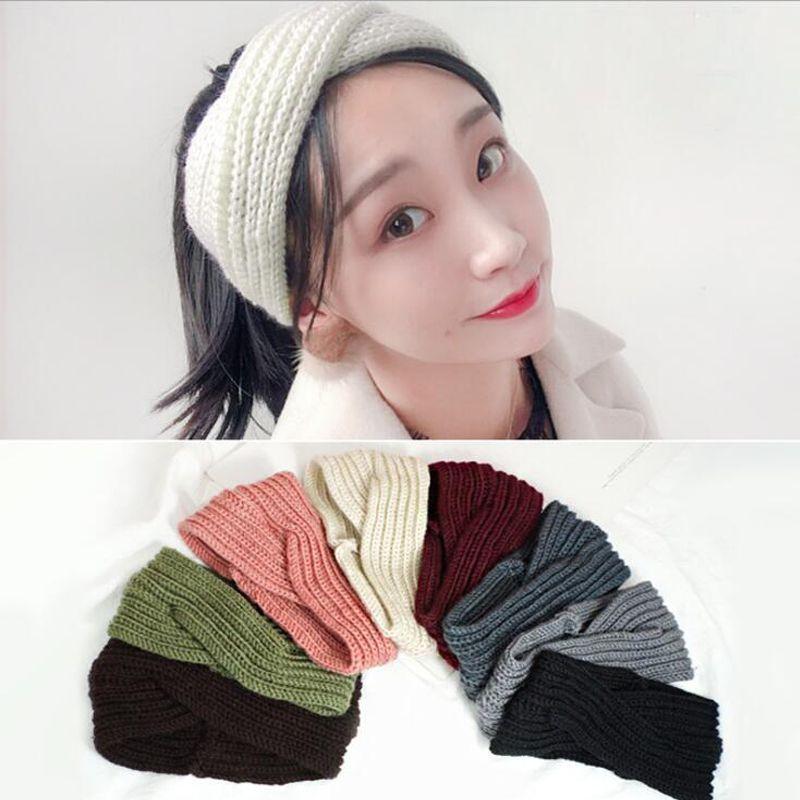 e173978d3d4 2018 TWDVS Women Crochet Turban Headband Winter Warm Elastic Head Wrap  Bandage Headbands Lady Hats Girls Hair Accessories Wedding Hair Jewelry  Headband ...