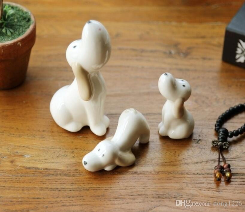 2019 Ceramic Cartoon Cute Dog Statue Home Decor Crafts Room Decoration Objects Dolls For Girls Porcelain Animal Figurine Birthday Gift From Dong1226