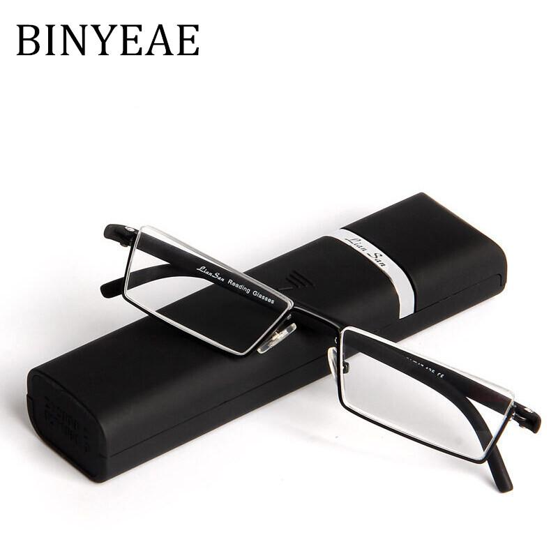 ef774202e03 2019 BINYEAE Eye Glasses Slim Metal Frame With TR 90 Temple Read Glasses  Quality Eyewear Female And Male Reading With Case From Prevalent