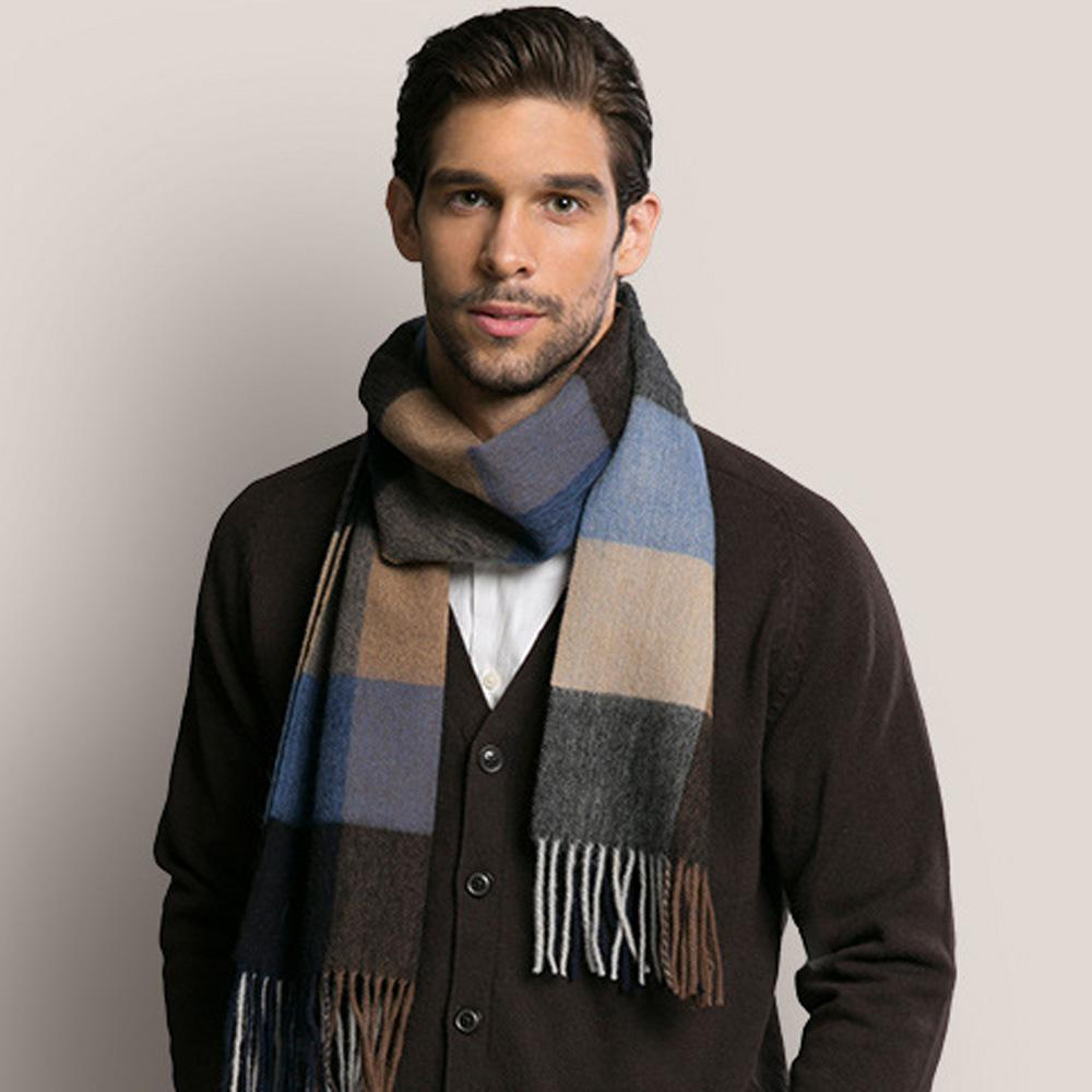 c5151cc01 2017 New Best Quality Scarf Winter Warm Men Scarf Wool Cashmere Plaid  Patchwork Tassels Wraps Scarves Husband Men For Gift Houndstooth Scarf Mens  Silk ...