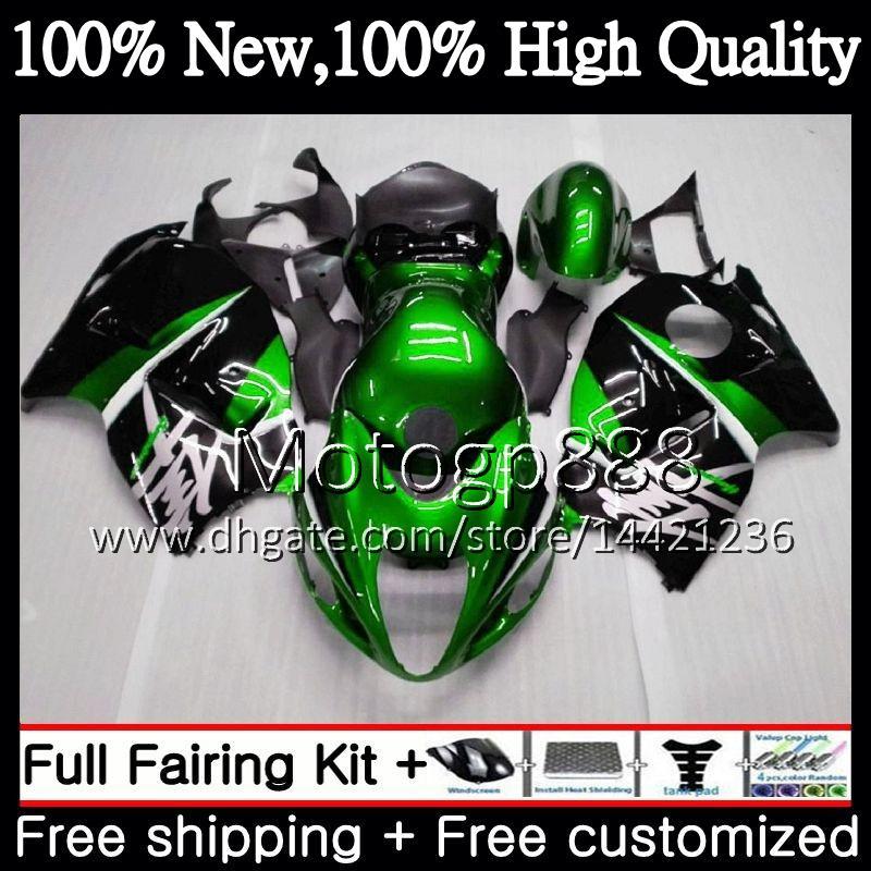 Körper für SUZUKI Grün schwarz Hayabusa GSXR1300 96 07 GSX R1300 56PG00 GSXR1300 GSXR 1300 1996 1997 1998 1999 2000 2001 Verkleidungs Karosserie