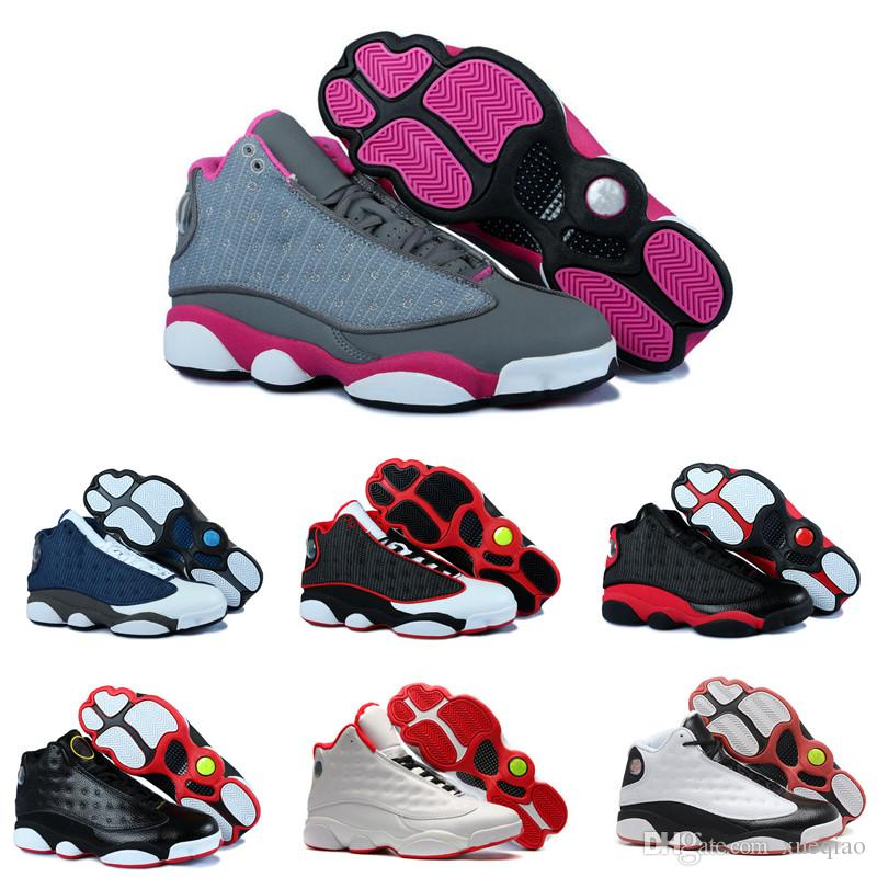 best website 2ff12 d938d High quality Basketball Shoes 13 New Bred GS Chicago Black Cat Grey Toe  White Blue Red Gold Men Women 13s Sneakers Sports Shoes