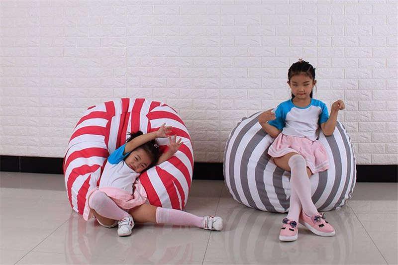 50 Couleurs 6 Tailles Creative Peluche Animal De Stockage Pouf Sac Chaise Multifonctionnel Enfants Jouets Sac De Rangement Vêtements Couverture Organisateur Sacs