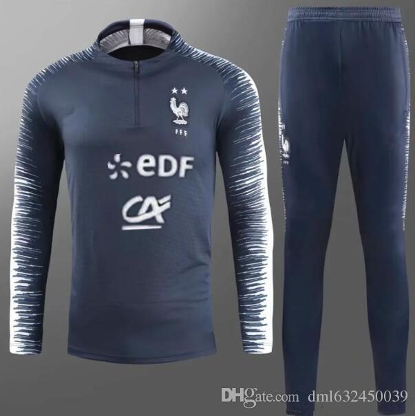 610c6c4c6c7 2018 2019 FR Survetement Training Suit Soccer Jersey Tracksuits ...