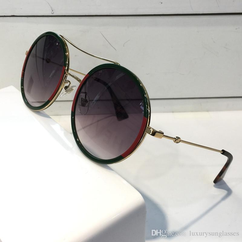 9b000e03dba3 Compre Mujeres De Lujo Gafas De Sol De Diseño 0061 Marca De Moda Estilo  Color Mezclado Retro Marco Redondo Para Las Mujeres Gafas De Protección De  Calidad ...