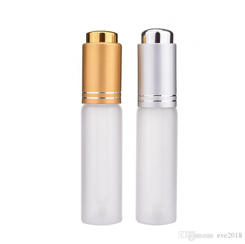 20 ML Mini Fosco Portátil de Vidro Recarregáveis Frasco de Perfume Vazio Recipiente Cosmético Frasco Com Conta-gotas LX2265