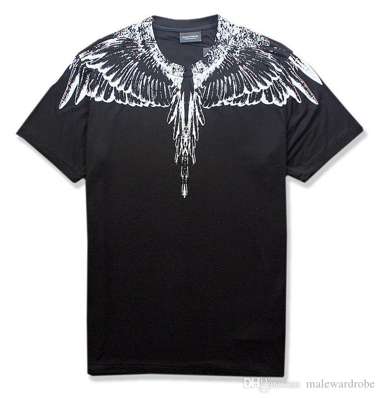 Men Women Summer Tshirts Feather Design Cool Black Tees Tops Male Clothing