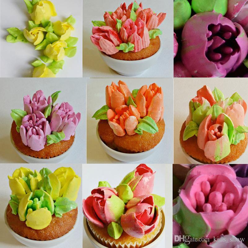 25 UNIDS De Acero Inoxidable Ruso Tulipán Icing Piping Boquillas Pastelería Consejos de Decoración Pastel de Magdalena Decorador Rose Accesorios de Cocina