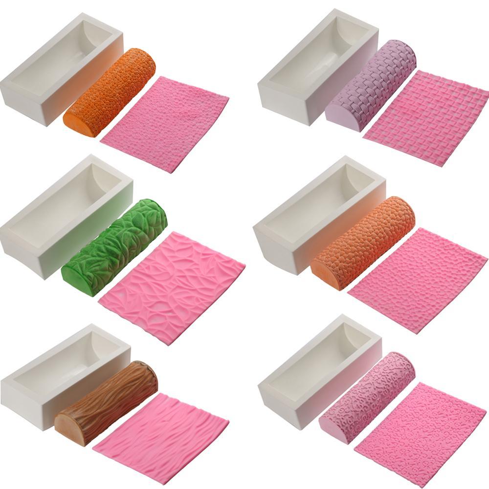 Grosshandel Umweltfreundliche Diy Silikon Textur Mat Kuchen Formen