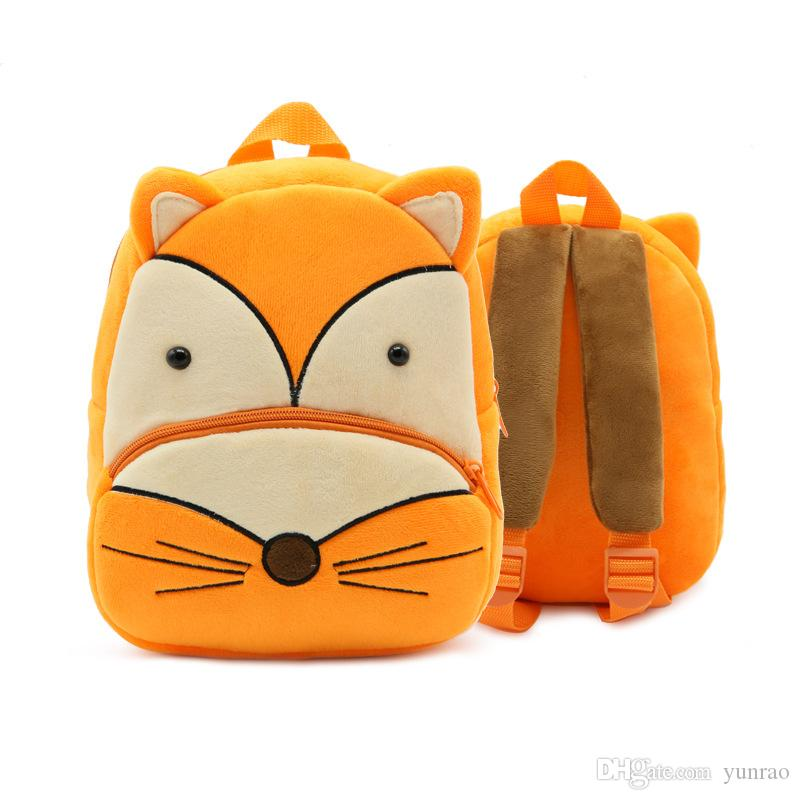 Kids School Bag Cute Fox Animal Printed School Backpack for Boys ... a0bced67b0d35