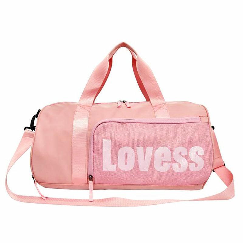 78ca5caa7b Pink Duffel Bag Sport For Gym New PU Women Travel Leather Bag Men ...