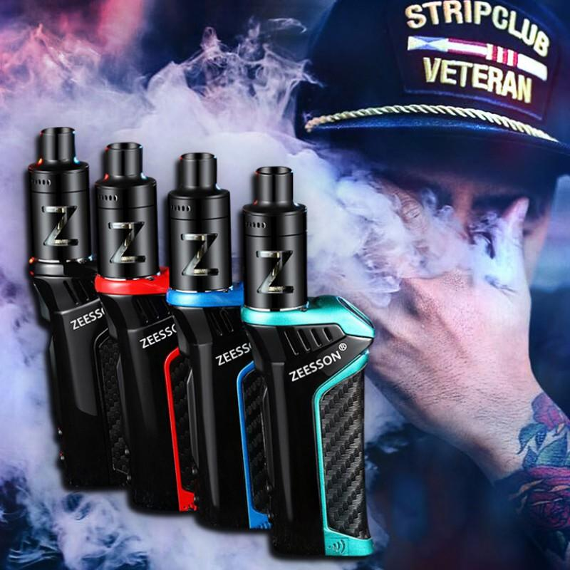 Cool Dazzling Shape Design Rechargeable 100W Gig Fog Smoke Cessation Electronic Cigarette Metal Body Vape Atomizer Vaporizer Kit