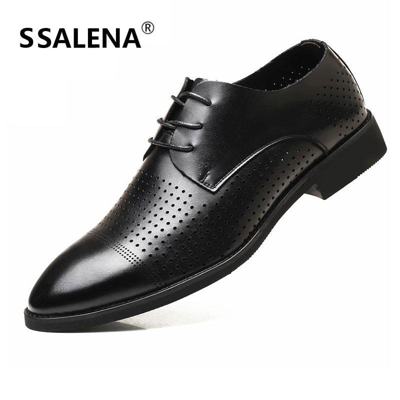 f41062649748c5 Compre Hombres Clásico Trabajo De Negocios Formal Zapatos De Vestir De  Cuero Suave Para Hombre Punta Estrecha Oxford Flats Negro Zapatos De Vestir  De Boda ...