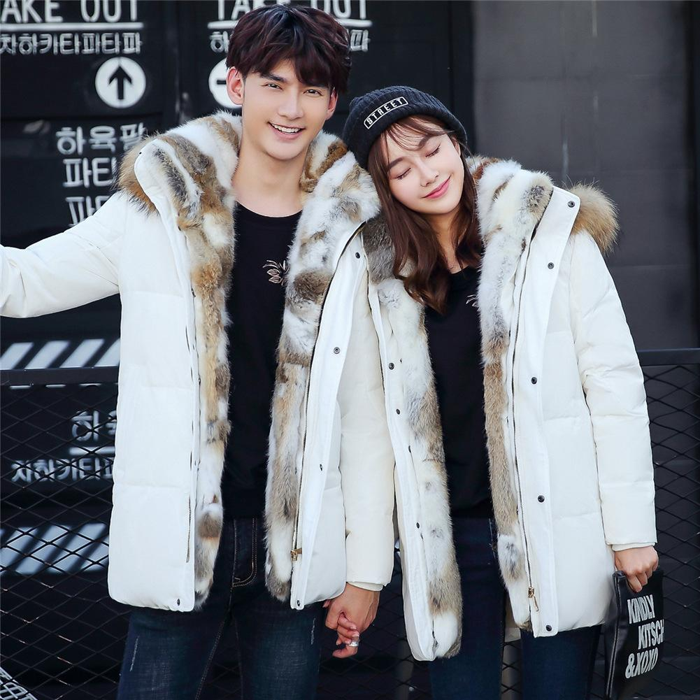 7392b45d9 2019 100% Real Rabbit Fur Collar White Duck Down Coats Jackets Mens Fur  Hood Coat Youth Winter Jackets Camperas Hombre From Edwiin04, $210.51 |  DHgate.Com